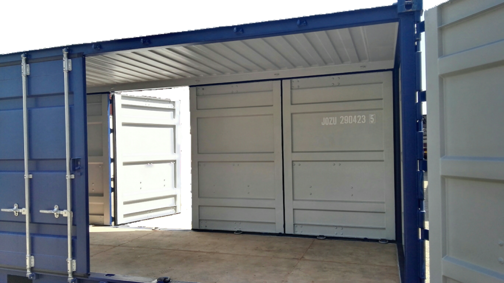 Both Side Open container deur achter open
