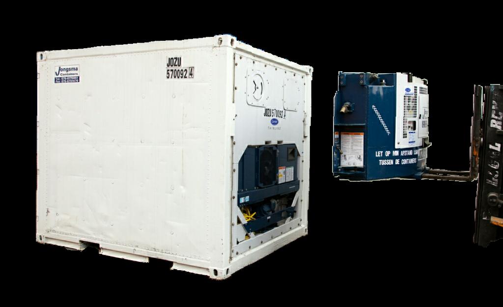 Clip On generator set die aan 10 ft koelcontainer