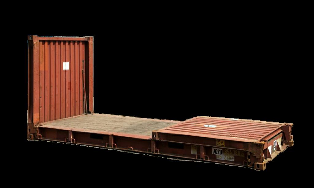 Een schot naar beneden platform container