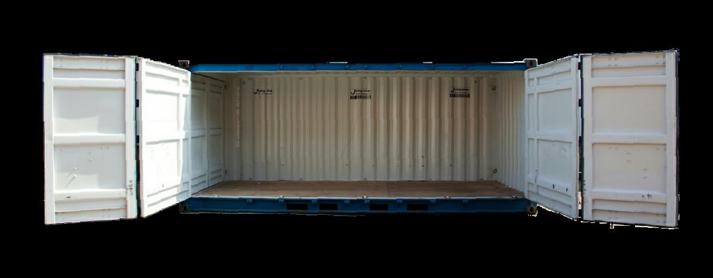 Side Door container geheel open